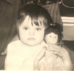 My first doll and I